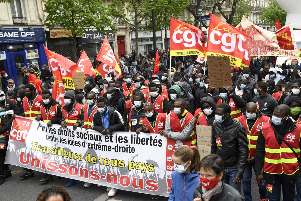 FRANCE-MAYDAY-PROTEST